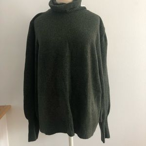 J.crew XL sweater gathered sleeve extended cuff